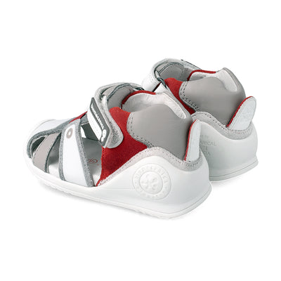 Urban Blanco Rojo Sandals | Biomecanics Kids Shoes | The Elly Store