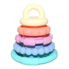 Pastel Rainbow Stacker and Teether Toy Jellystone Designs
