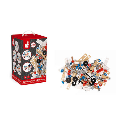 Brico Kids DIY Barrel (100 Pieces) Janod