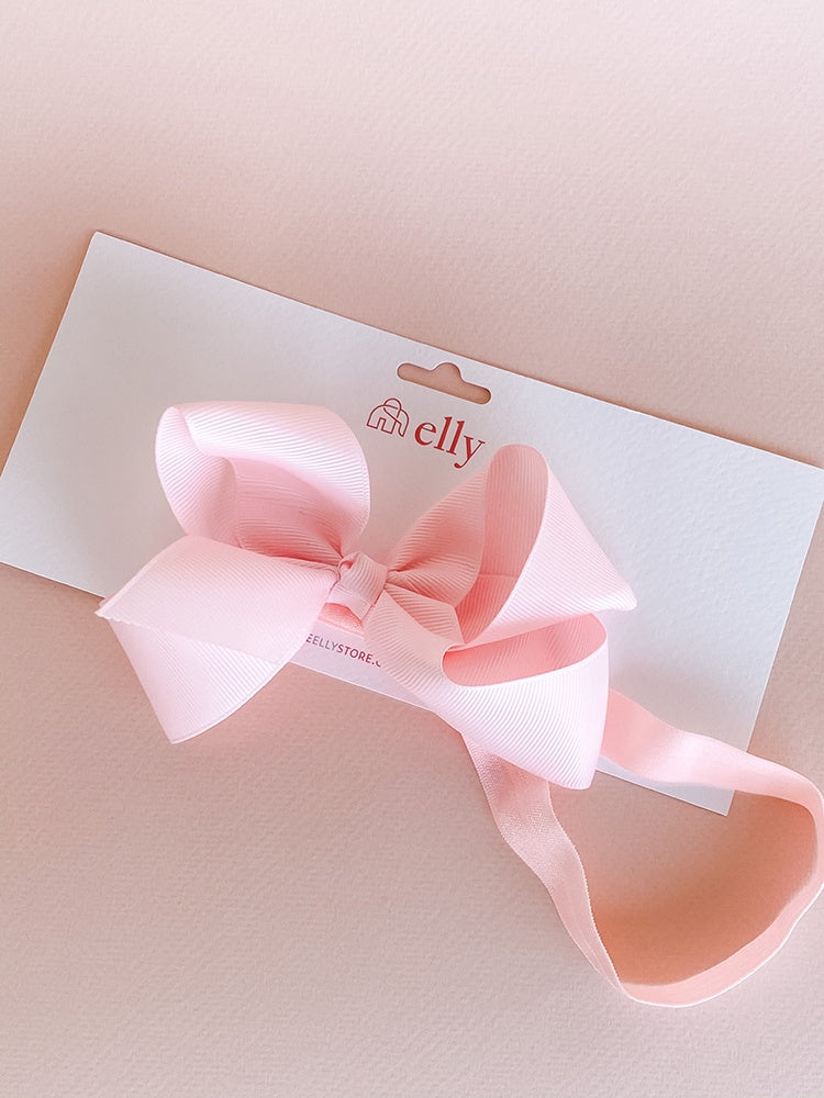 Large Ribbon Headband - Light Pink