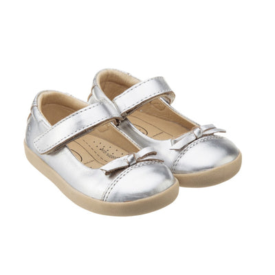 Sista Flat by Old Soles in Silver | Buy Kids Shoes online at The Elly Store Singapore