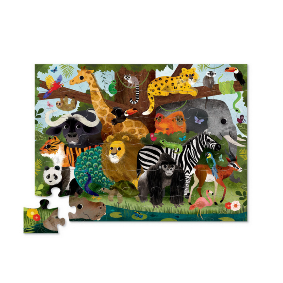 36 Piece Puzzle - Jungle Friends Crocodile Creek