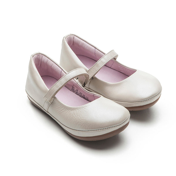 Tip Toey Joey - New Twirl Mary Jane Shoes Antique White