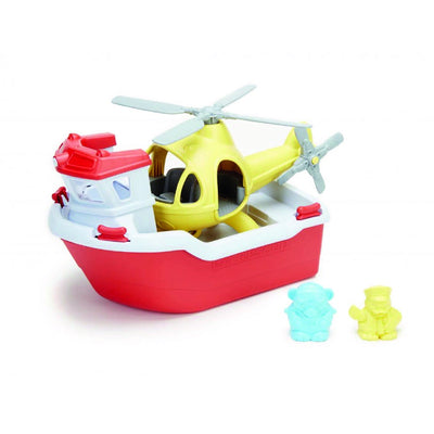 Rescue Boat & Helicopter, Green Toys™ 100% recycled plastic, The Elly Store