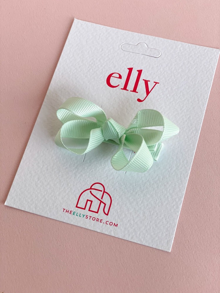 Twinkle Bow Peppermint | Hair Accessories | The Elly Store