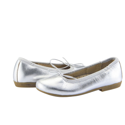Old Soles Brule Silver Ballet Flats Girls Shoes