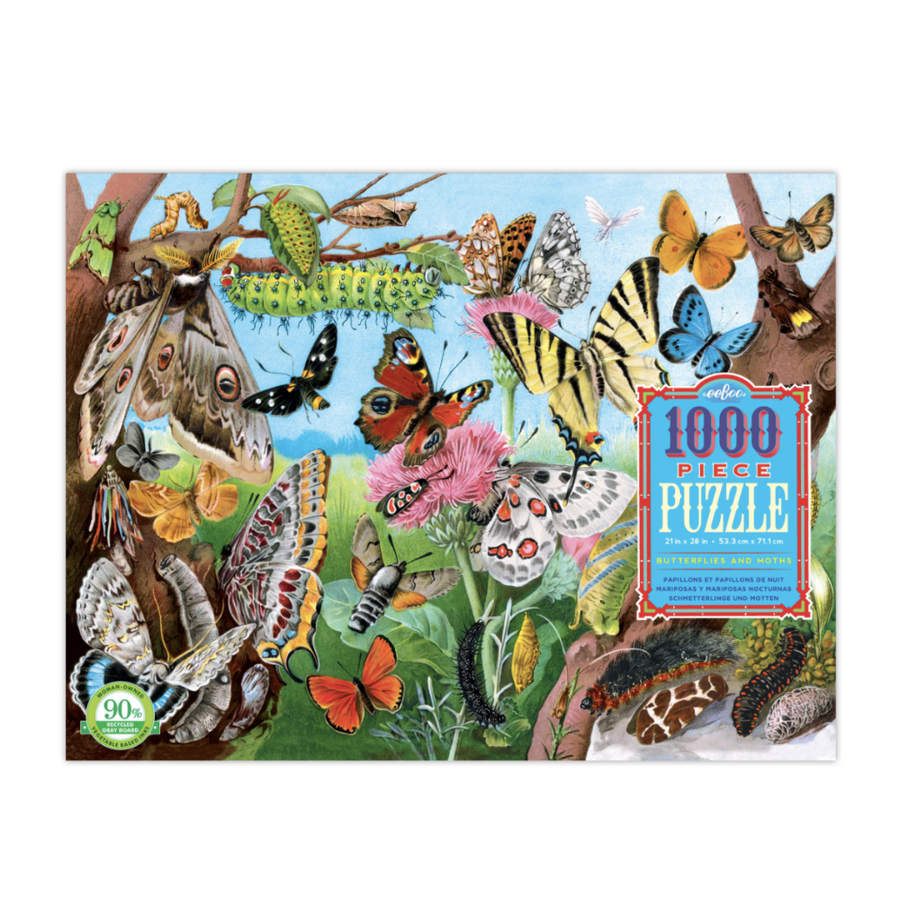 Butterflies and Moths 1000Pc Rectangular Puzzle