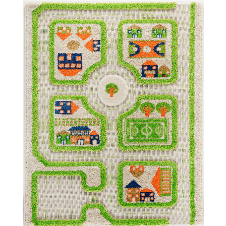 3D Play Rug - Traffic Green (Small)