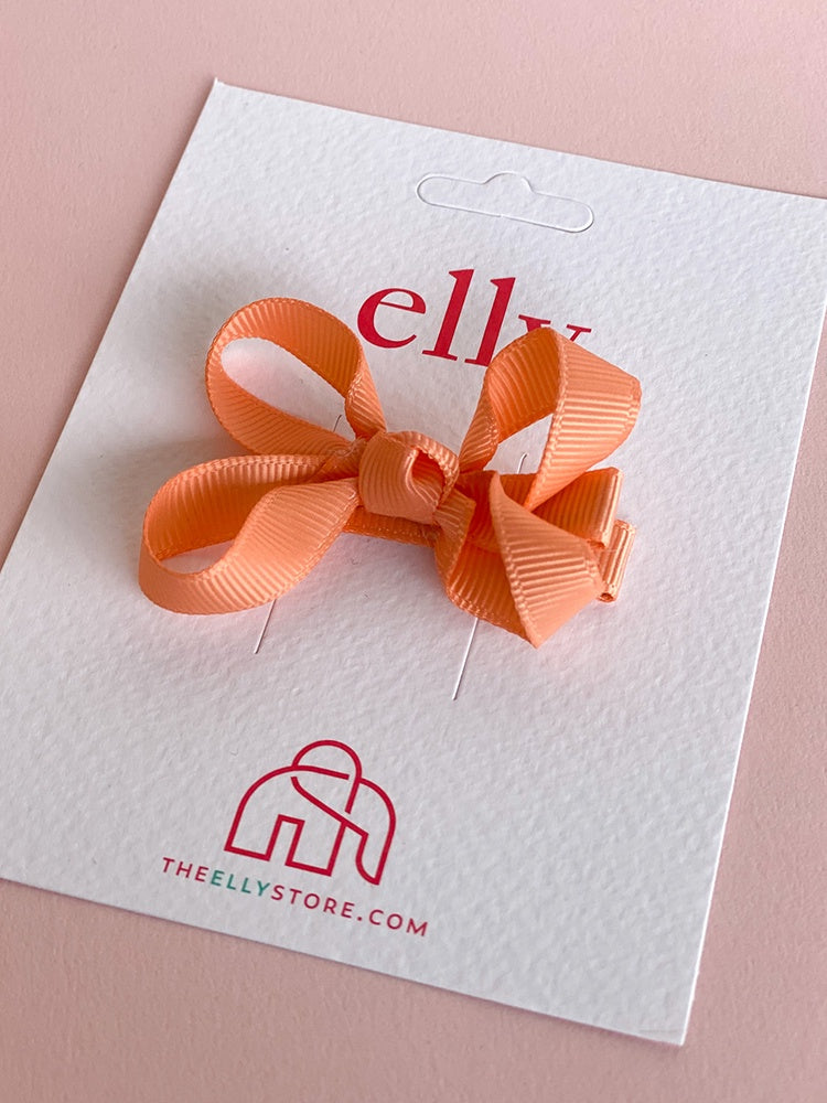 Twinkle Bow - Peach | Hair Accessories | The Elly Store