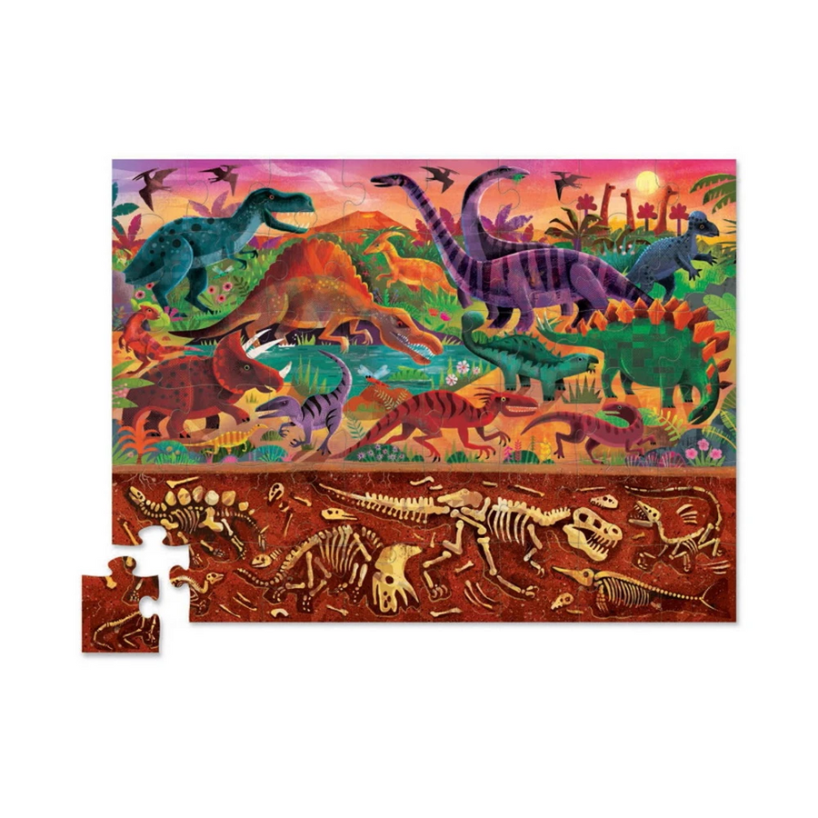 48 Piece Above & Below - Dinosaur World Crocodile Creek