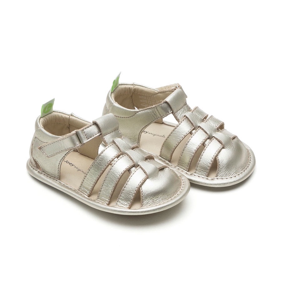 Minty Sandals - White Gold