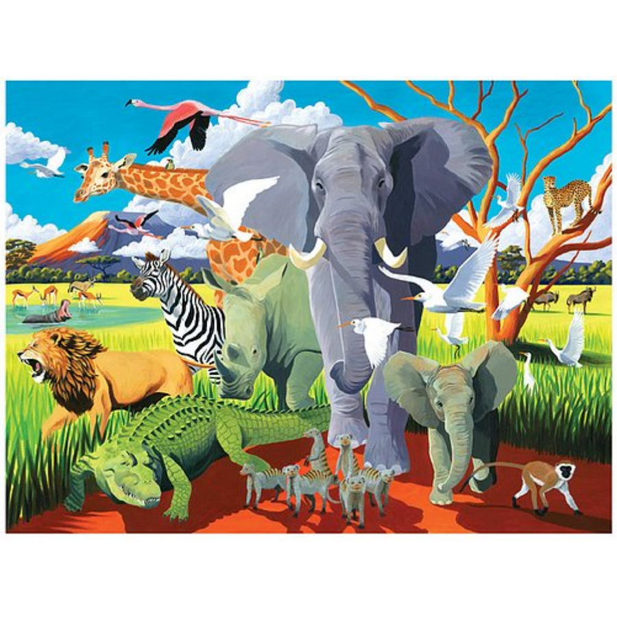 500 Piece Boxed Puzzle - Wild Safari Crocodile Creek