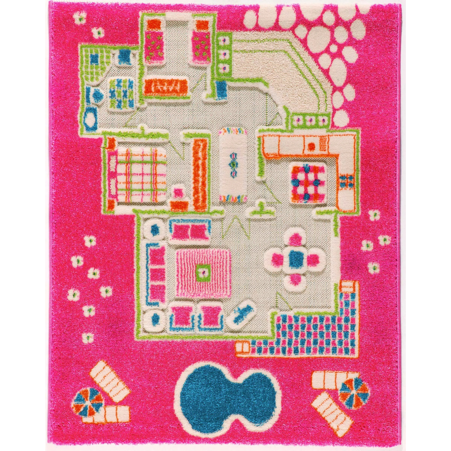 3D Play Rug - Playhouse Pink (Small)