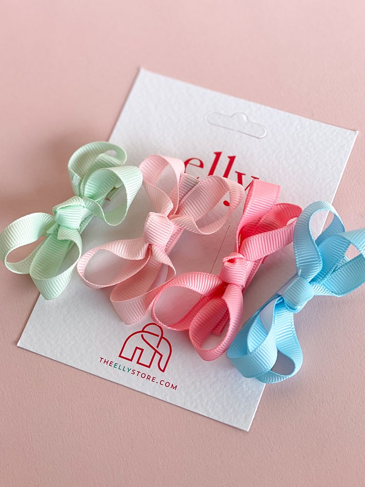 Twinkle Bow - Pastel Set of 4 | Hair Accessories | The Elly Store