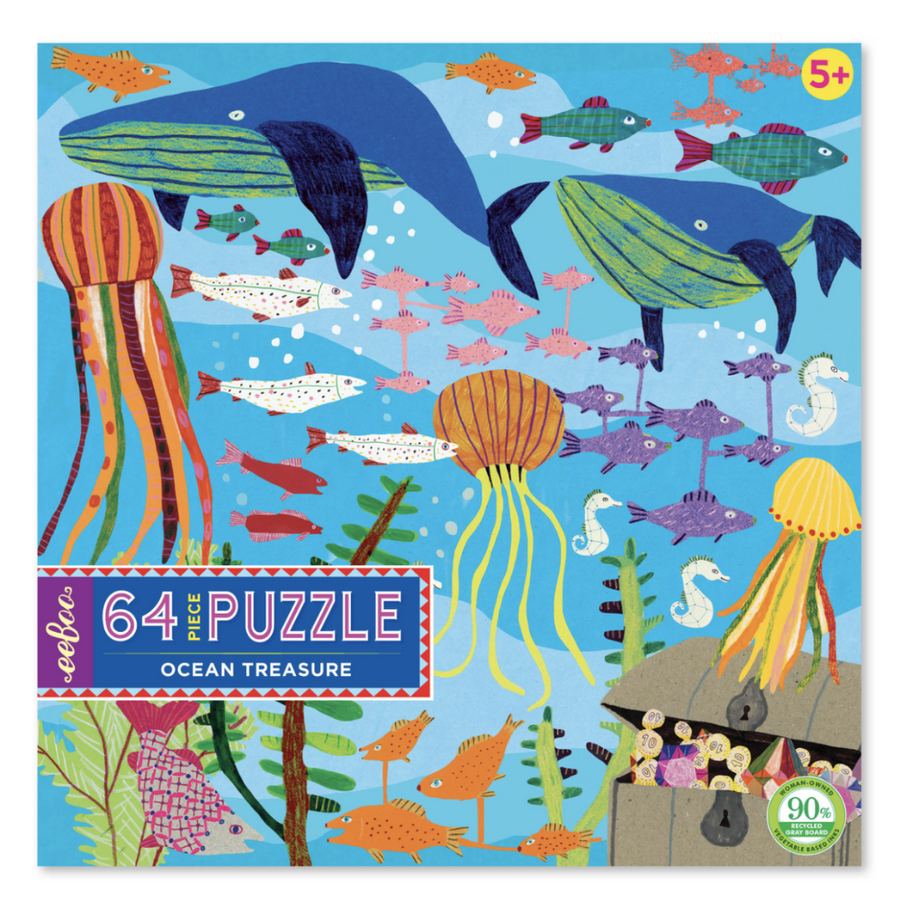 eeBoo Ocean Treasure 64Pc Puzzle | Birthday Gifts | The Elly Store