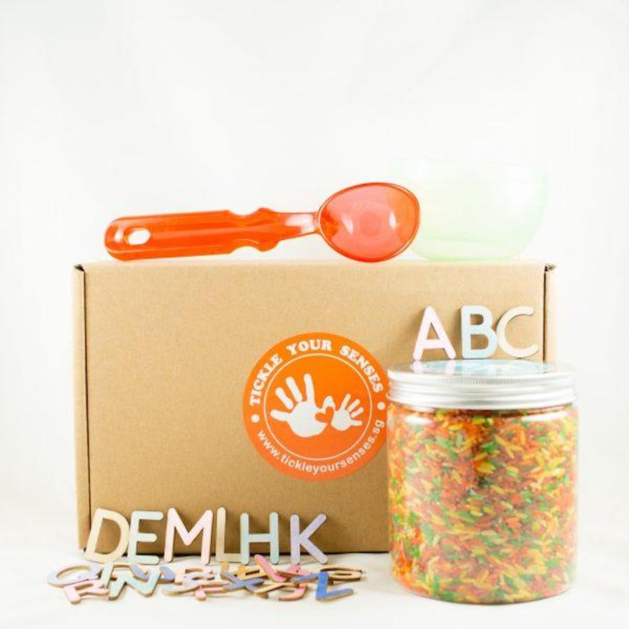 Coloured Rice Alphabet Kit
