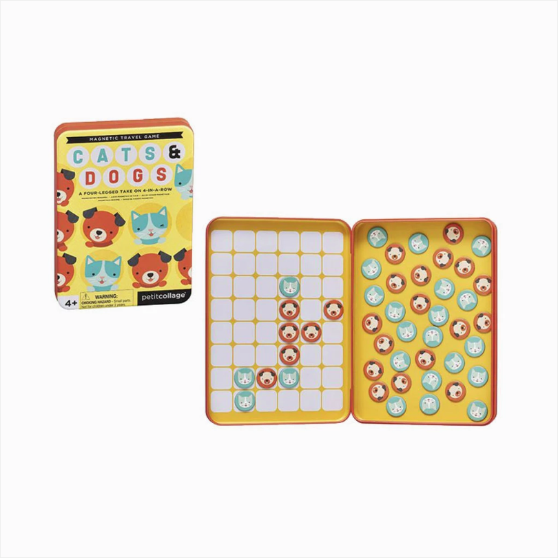 Magnetic Travel Game - Cats & Dogs Four in a Row