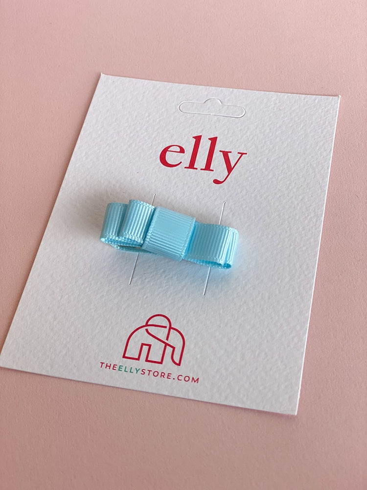 Tiny Hair Bow - Light Blue | Hair Accessories | The Elly Store
