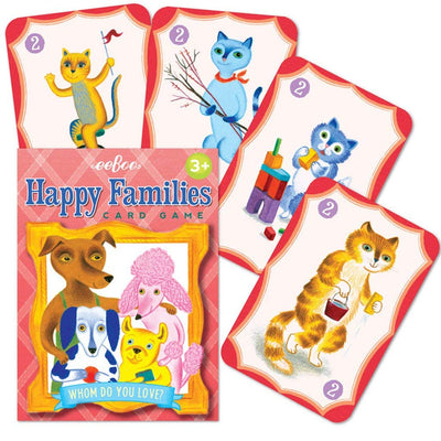 eeBoo Happy Families Playing Cards