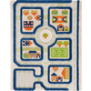 3D Play Rug - Traffic Blue (Small) IVI