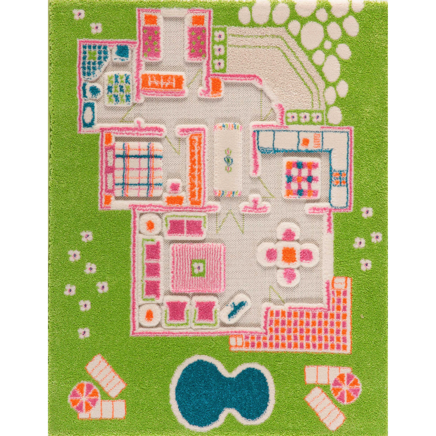 3D Play Rug - Playhouse Green (Small)