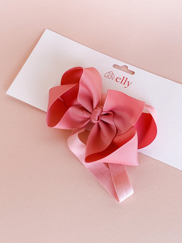 Large Ribbon Headband - Dusty Pink