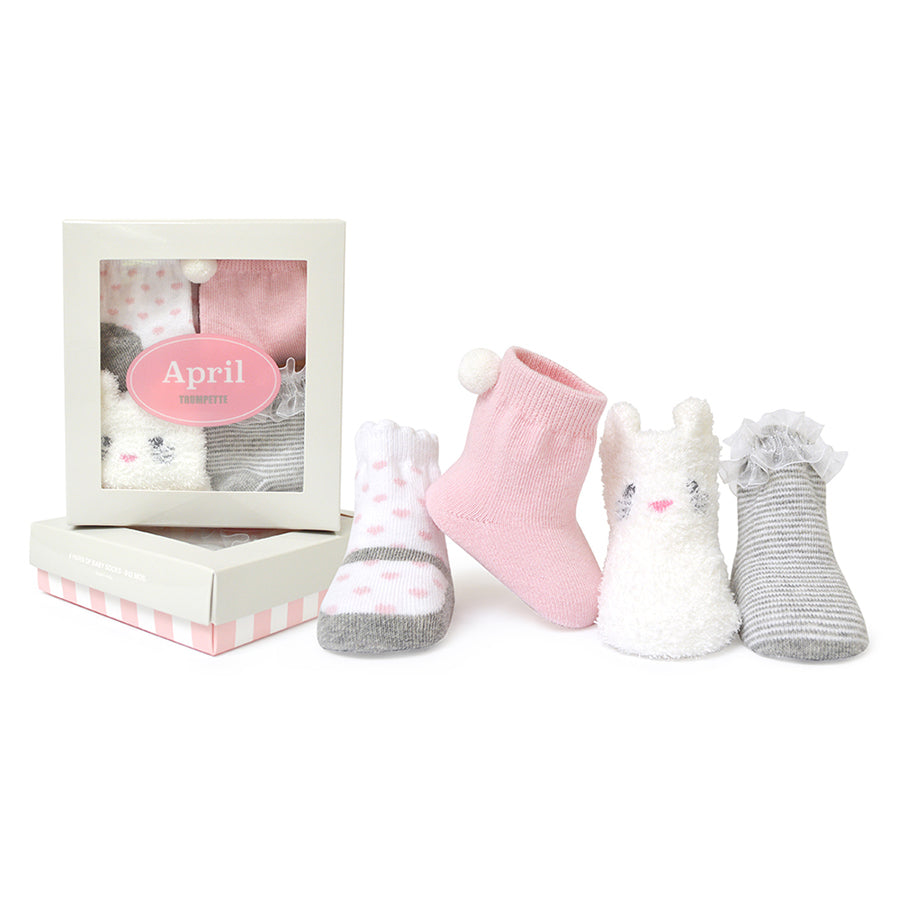 April | Trumpette Baby Girl Socks | The Elly Store
