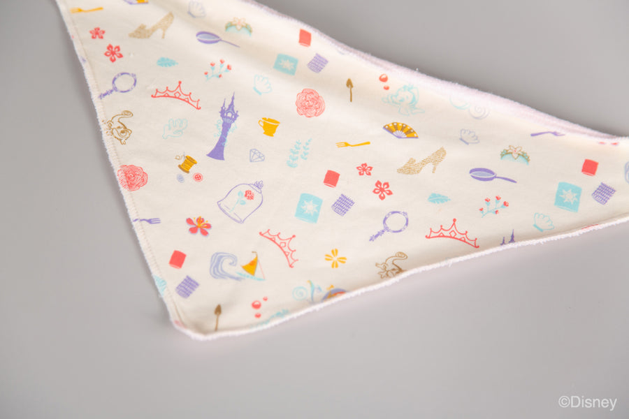 Bib - Princess Icons Cream