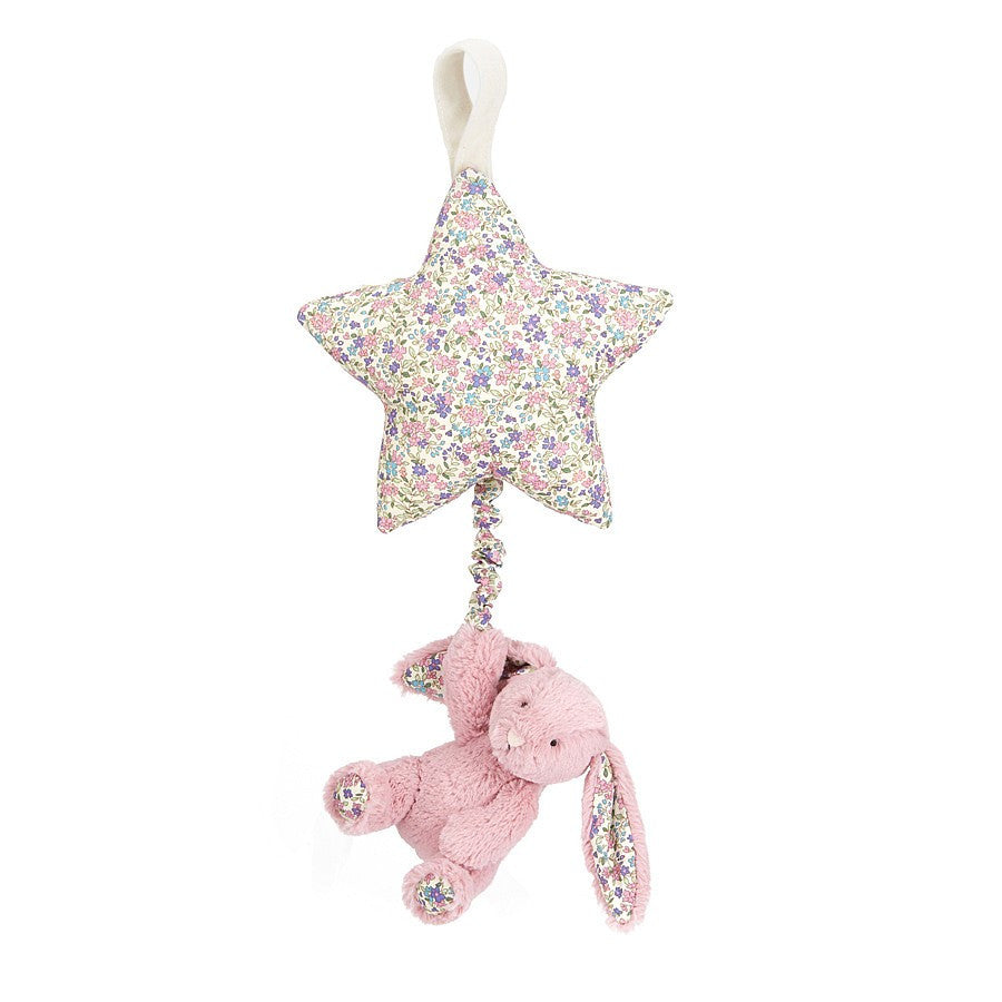 Jellycat Blossom Tulip Pink Bunny Star Musical Pull | Buy Jellycat Baby Kids online at The Elly Store Singapore