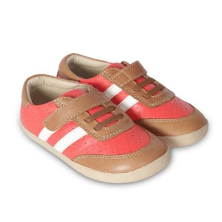 Cam Shoe -  Bright Red / Tan | Old Soles | The Elly Store