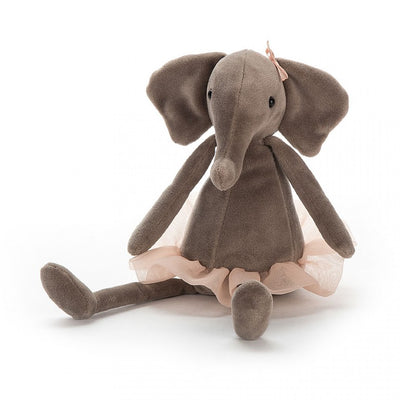 Jellycat Animals Dancing Darcey Elephant in Peach tutu skirt | Buy Jellycat Singapore Kids Baby Soft Toys at The Elly Store