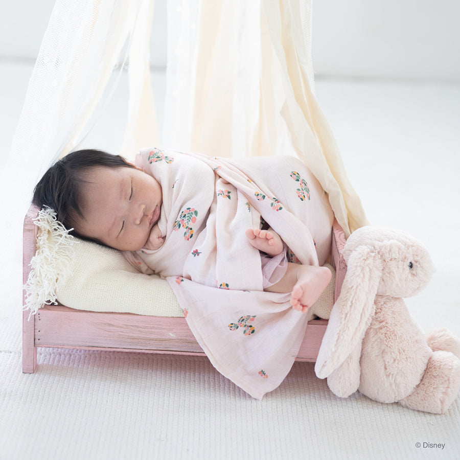 Organic Cotton Swaddle Flower Mickey | The Elly Store