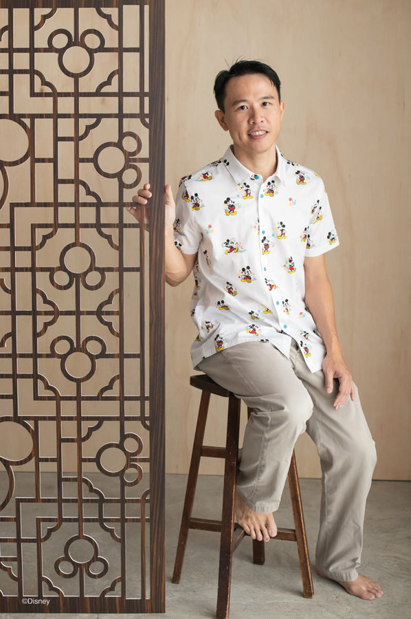 Mens Shirt - Springtime Mickey