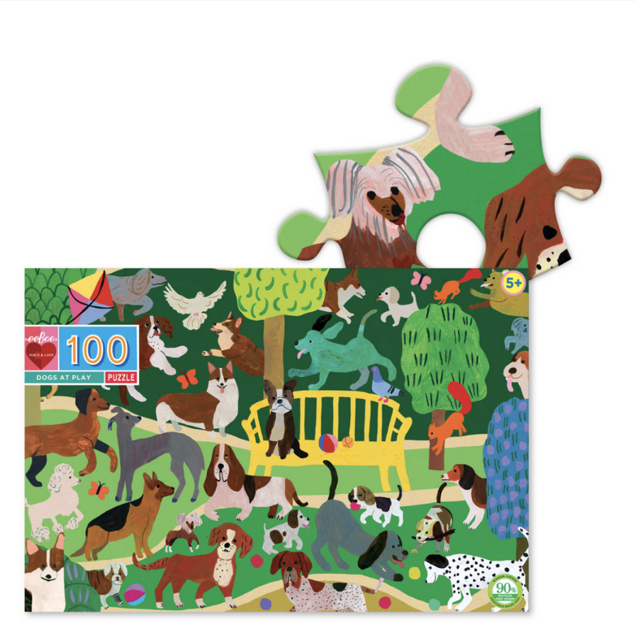 Dogs at Play 100Pc Puzzle eeBoo