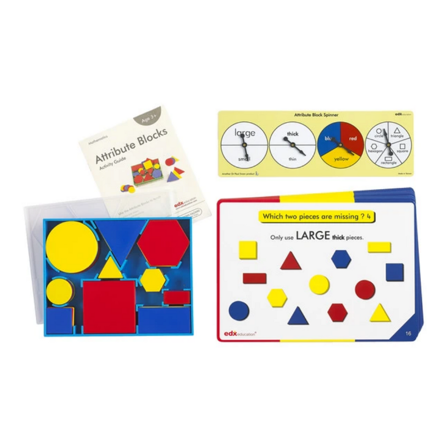 Attribute Blocks Activity Set (Geometry) Edx Education by Tickle Your Senses