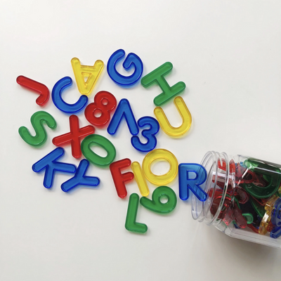 Transparent Letters and Numbers Set Edx Education by Tickle Your Senses