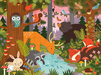 Petit Collage Enchanted Woodland Floor Puzzle Illustration