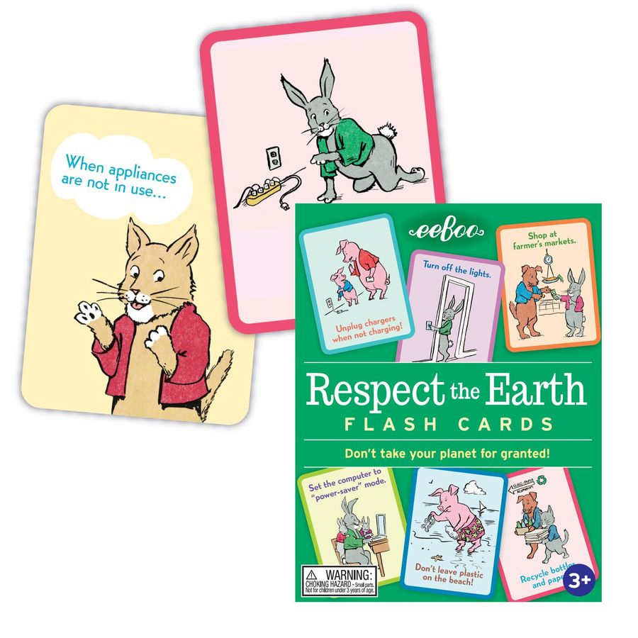 eeBoo - Respect The Earth Flash Cards Singapore