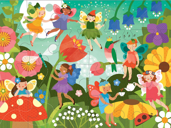 Petit Collage Fairy Garden Floor Puzzle Illustration