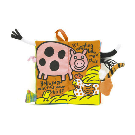Jellycat 'Farm Tails' Soft Book Cover | Buy Jellycat Books online for baby & early readers at The Elly Store Singapore