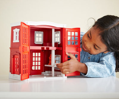 Green Toys™ Fire Station Playset | Made from 100% recycled plastic | The Elly Store