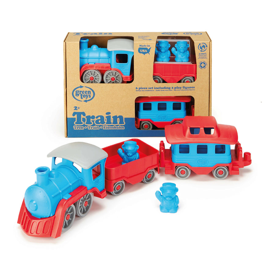 Green Toys™ Train Blue | 100% recycled plastic | The Elly Store