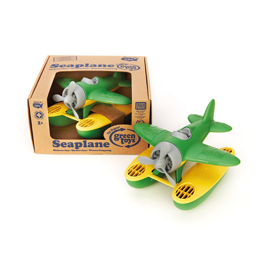 Green Toys™ Seaplane Green, 100% recycled plastic, The Elly Store
