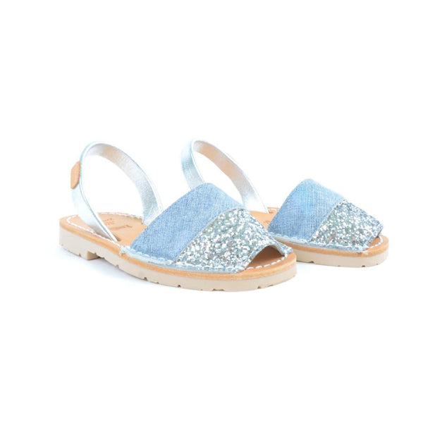 Iker Girls Sandals in Vaquero Silver Singapore