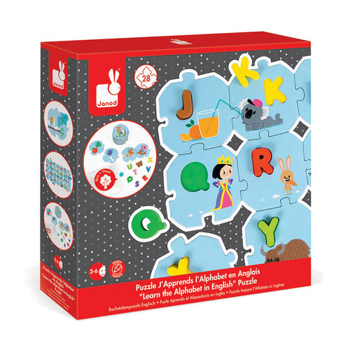 janod i learn the alphabet puzzle box cover