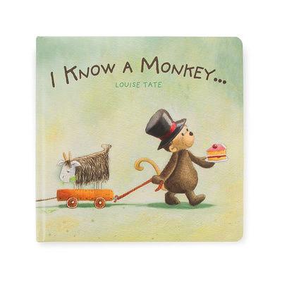 Jellycat 'I Know A Monkey' Book Cover | Buy Jellycat Books online for Early Reader at The Elly Store Singapore