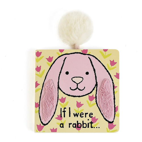 Jellycat 'If I Were a Rabbit' Board Book in Pink Cover | Buy Jellycat Books online for toddlers early reader at The Elly Store Singapore