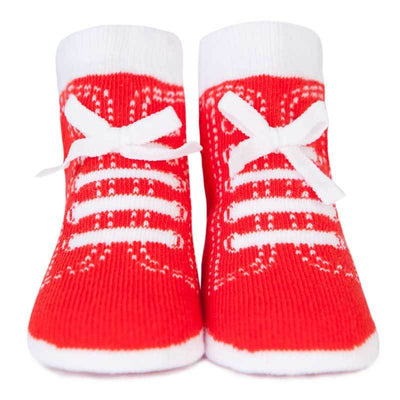 Trumpette Johnny's Baby Socks in Red for Boys Infant Newborn | Buy Baby Clothes online at The Elly Store
