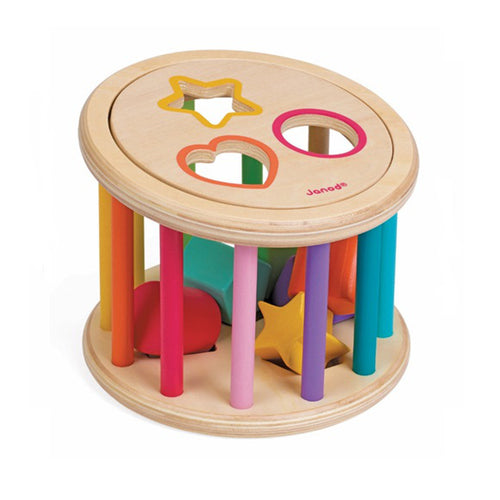 I-Wood Shape Sorter Drum
