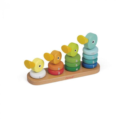 Janod - Ducks Stacker Wooden Toy Set 14 Pcs Educational Kids Toys Singapore